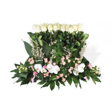 image de la raquette de fleurs de deuil Angélus