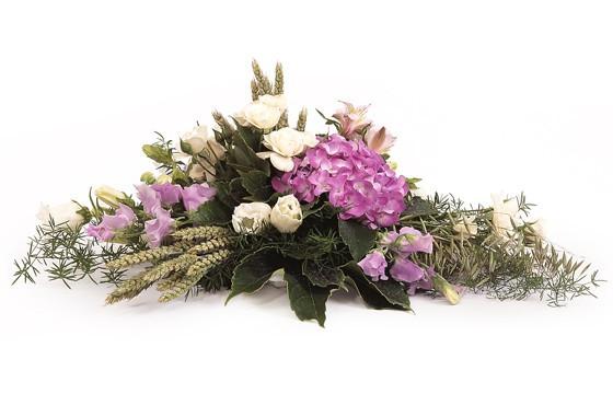raquette de deuil parme blanc envoyer des fleurs pour. Black Bedroom Furniture Sets. Home Design Ideas