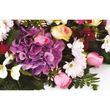 zoom sur un magnifique hortensia de couleur parme