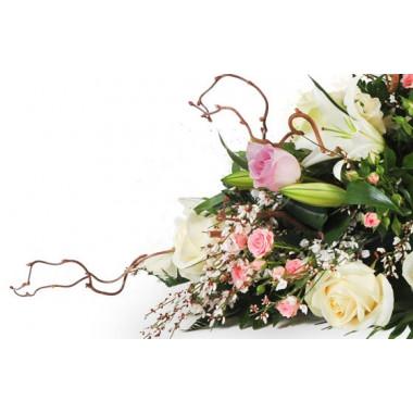 vue sur la droite de la composition florale