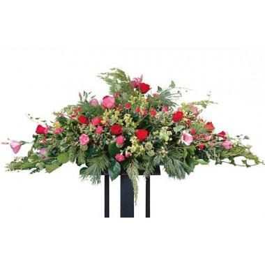 image de la raquette de fleurs rouges & roses du nom de crépuscule