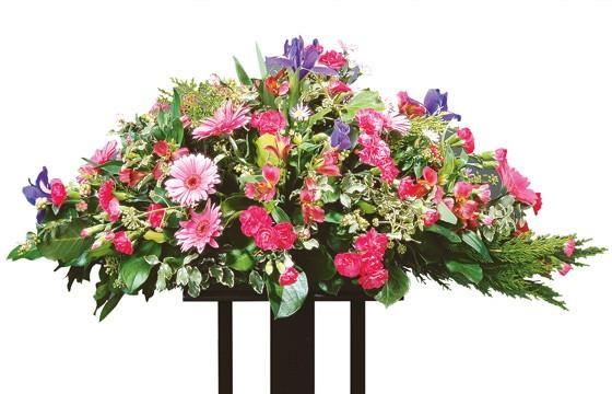 image de la raquette de fleurs pour un deuil du nom de Solstice