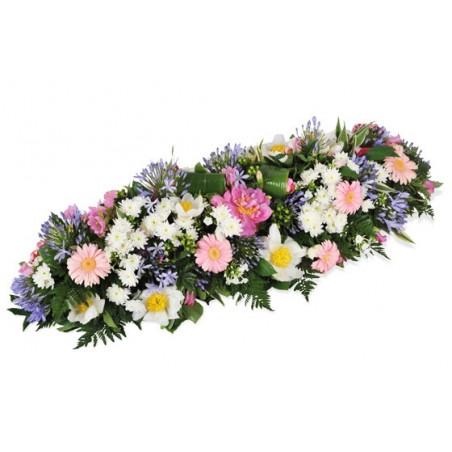 image de la raquette de deuil dans les tons roses blanc & mauve L'Aurore