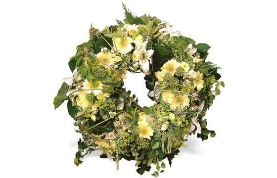 image de la couronne de fleurs mortuaire Pensée Infinie