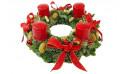 image de la Couronne de Noël Des Fleurs à Moscou