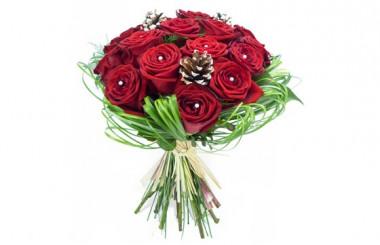image du Bouquet de roses pour Noël Alhambra