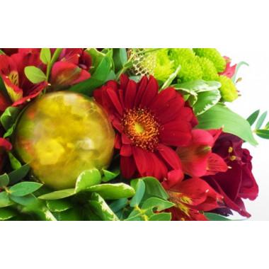 image de la boule de Noël du Bouquet du fleuriste Noël Rouge