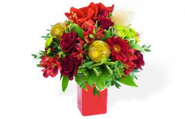 image du Bouquet du fleuriste Noël Rouge
