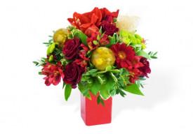 Bouquet du fleuriste Noël Rouge