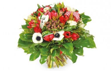 image du Bouquet de fleurs rouges Evidence