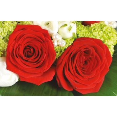 L'Agitateur Floral |zoom sur des roses rouges du Bouquet de fleurs Cherry