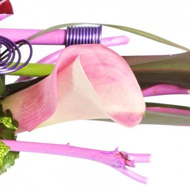 Zoom sur un calla de la compositon florale