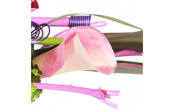 L'Agitateur Floral | Zoom sur un calla de la compositon florale