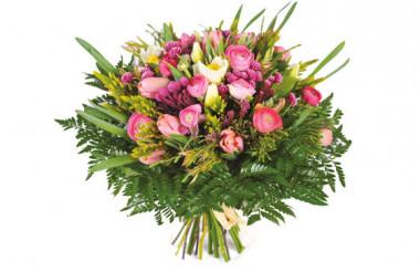 image du Bouquet rond champêtre Bohème