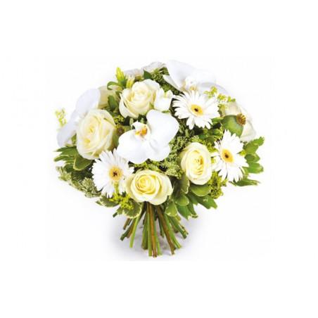 Bouquet de fleurs r ve blanc livraison par un artisan for Site livraison fleurs