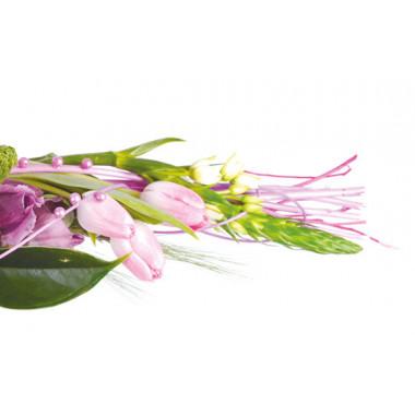 zoom sur les tulipes rose du Bouquet de fleurs Envol