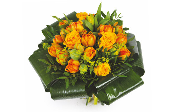 image du Bouquet rond orange Mandarine