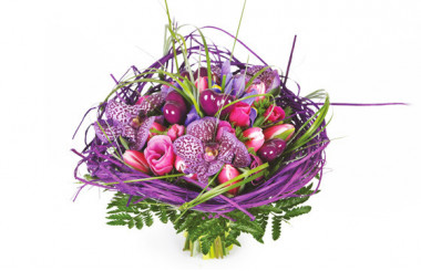 image du Bouquet de fleurs mauve So-Chic