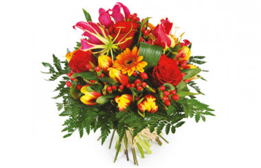 image du Bouquet de fleurs multicolore Sensation