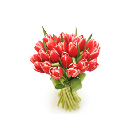 image du Bouquet de tulipes rouges Perle Douce