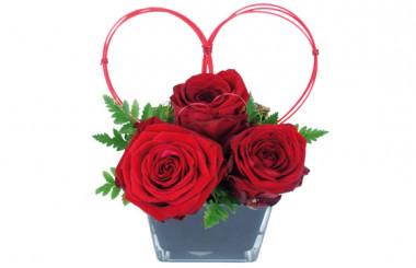 image de la Composition de roses rouges Cupidon