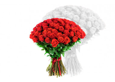 image du bouquet de roses rouges courtes tiges
