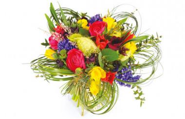 image du Bouquet rond coloré Sourire