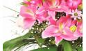 l'Agitateur Floral |zoom sur des lys rose du Bouquet de fleurs rose Eclatant