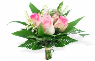 image du Bouquet de Muguet & Roses Rose