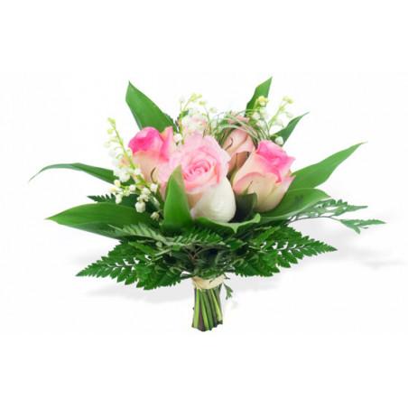 bouquet de fleurs muguet et roses rose livraison fleurs 1er mai l 39 agitateur floral. Black Bedroom Furniture Sets. Home Design Ideas