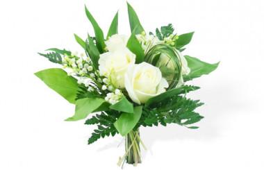 image du Bouquet Muguet & Roses blanches