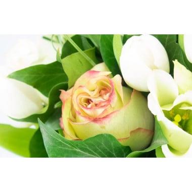 L'Agitateur Floral | Image avec un zoom sur une rose jaune