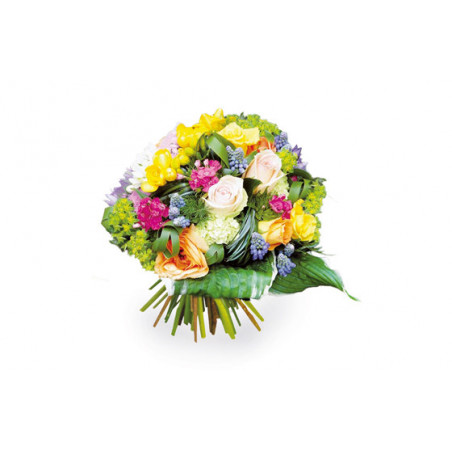 L'Agitateur Floral | Image de couverture bouquet de fleurs multicolore Fougue