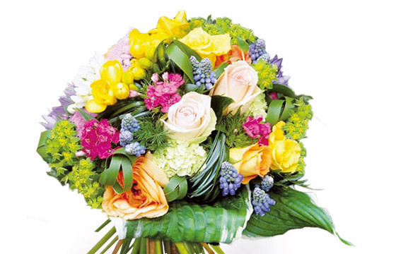L'Agitateur Floral | Image zoom bouquet de fleurs multicolore Fougue