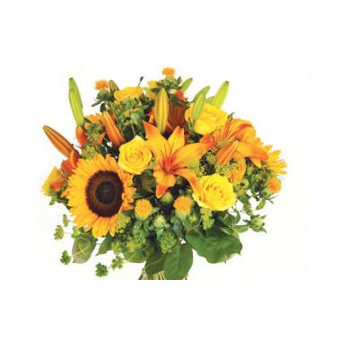 Image zoom bouquet de fleurs jaunes Soleil