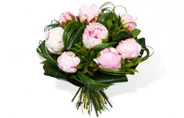 image du Bouquet rond de Pivoines roses