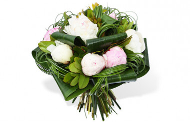 image du Bouquet de Pivoines Blanches & Roses