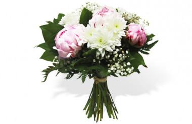 image du Bouquet rond de saison Princesse