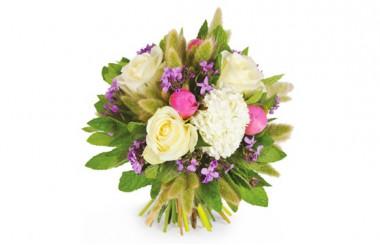Image du bouquet de fleurs rond Panache