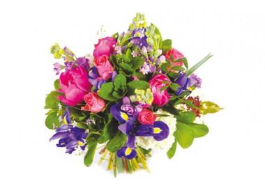 image du bouquet de fleurs rond Boréales