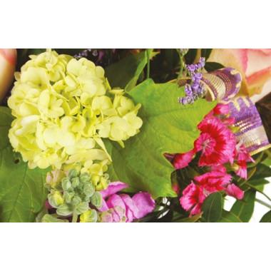 zoom sur un ensemble de fleurs du bouquet