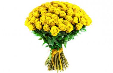 L'Agitateur Floral | image du Bouquet de Roses Jaunes longues tiges
