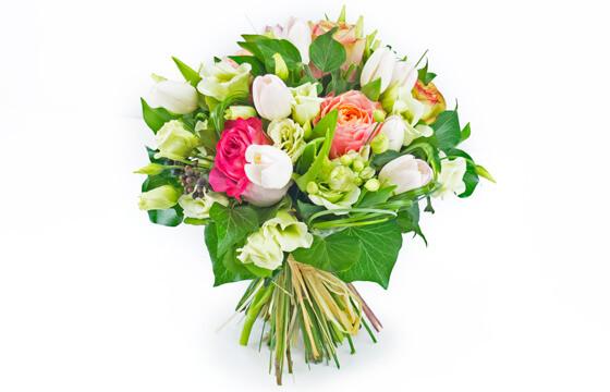 bouquet de fleurs rose et blanc boucle rose livraison. Black Bedroom Furniture Sets. Home Design Ideas