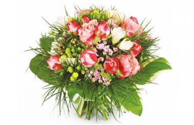Image du bouquet de fleurs rond Caresse