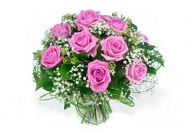 Bouquet rond Pluie de Roses