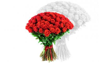 L'Agitateur Floral | image du bouquet de roses rouges courtes tiges