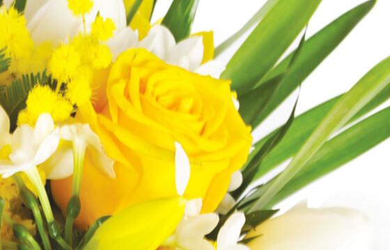 L'Agitateur Floral | zoom sur une rose jaune du bouquet de fleurs pas chères