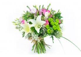 Bouquet rond de fleurs Lily Rose