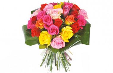 L'Agitateur Floral | image du bouquet de roses multi-couleurs Peps