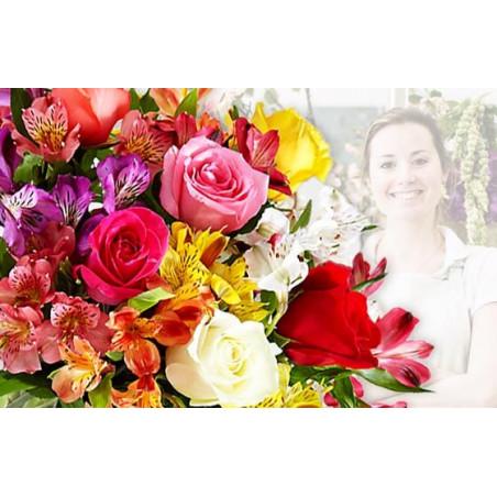 L'Agitateur Floral |image du Bouquet Surprise du fleuriste coloré